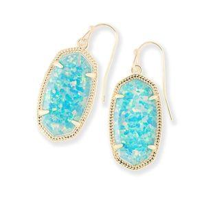 Kendra Scott🧿Dani drop earrings Aqua Kyocera Opal